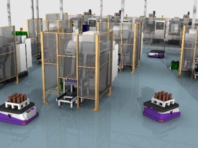 3D-Simulation fahrerlose Transportsysteme