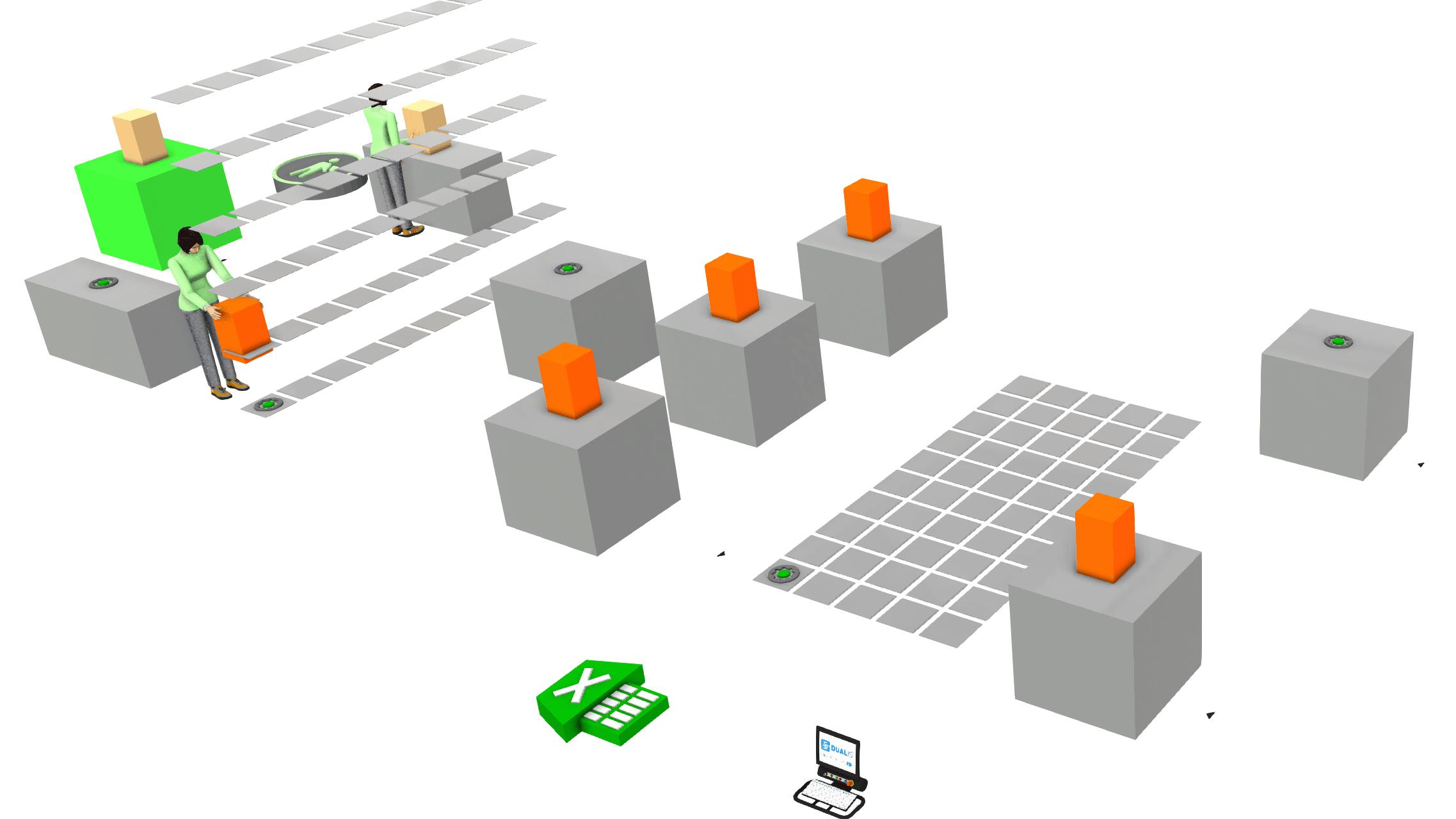 Excel-gestützte Layoutplanung mit Visual Components: Wie Sie Simulationen auch ohne fundierte Software-Kenntnisse erstellen